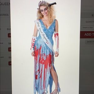 Bloody prom queen costume size M